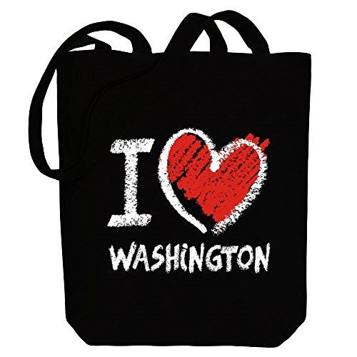 Idakoos I love Washington chalk style - US Staaten - Bereich für Taschen