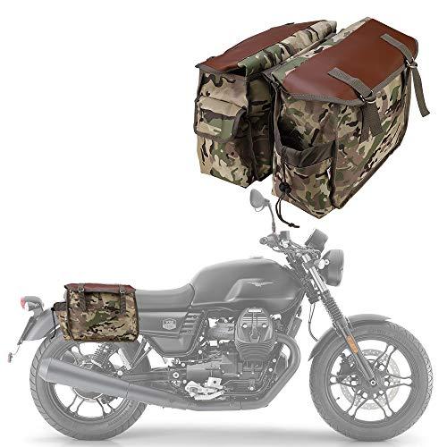 Motorcycle Saddle Bags Panniers for Honda Yamaha Suzuki Sportster Kawaski Motorcycle Scooter Saddle Bag (Camouflage)