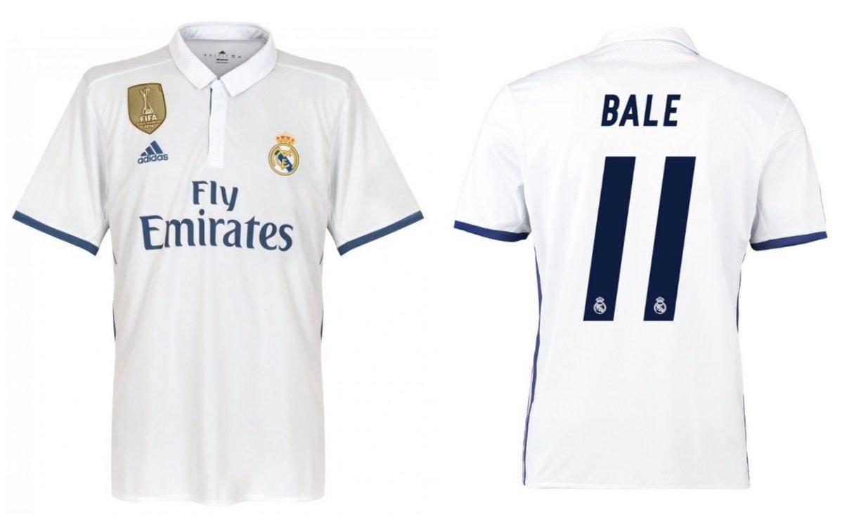 Trikot Kinder Real Madrid 2016-2017 Home WC - Bale 11