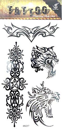 lion tribal temporary tattoo waterproof tatoo women