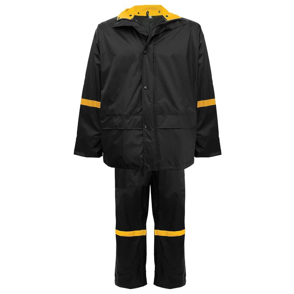 Global Glove R6400 - FrogWear - 3-Piece Premium Nylon Rain Suit - 4X-Large