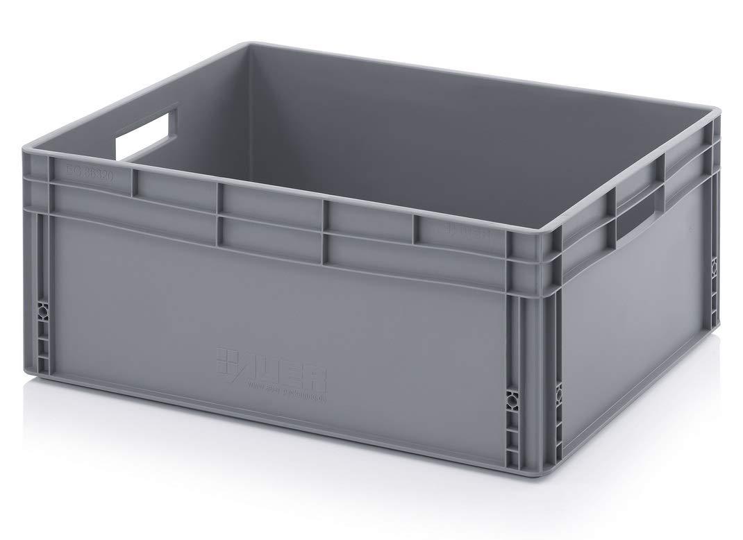 Aufbewahrungsboxen aus Kunststoff, stapelbar, 130 l, 80 x 60 x 32 cm, Grau (800 x 600 x 320 mm) Auer Packaging APSE86/32