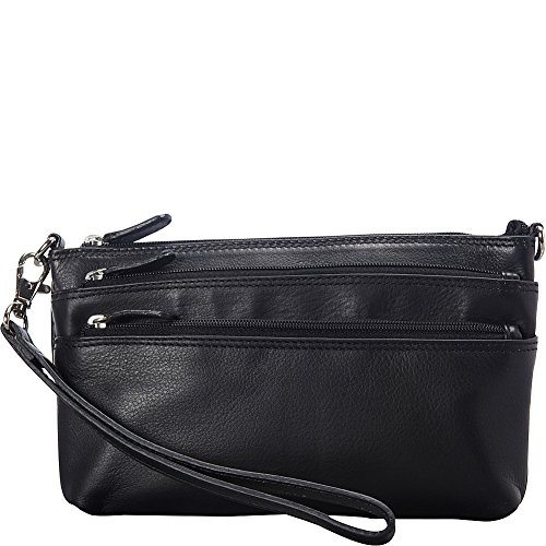 mancini-leather-goods-ladies-rfid-secure-wristlet-black