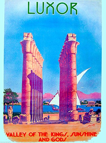 MAGNET Egypt Luxor Valley of the Kings Egyptian Travel Advertisement Art -