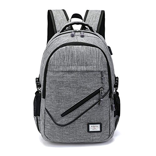 business casual backpack computer bag USB travel shoulder bag student (Business Casual Saddlebag)
