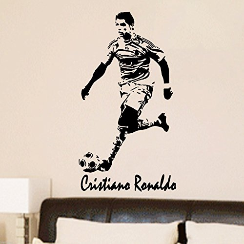 CRISTIANO RONALDO Football Action Vinyl Wall Art Stickers removable vinyl Decal Wall Graphics (Action Wall Graphic)