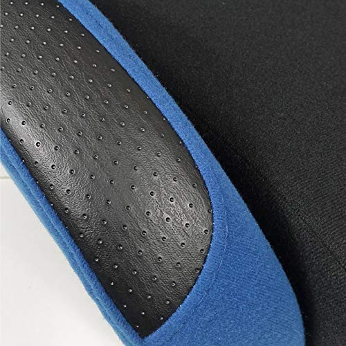 [L+R] Black/Light Blue Fabric Cloth Reclinable Sport Racing Seats w/Sliders by Spec-D Tuning (Image #6)