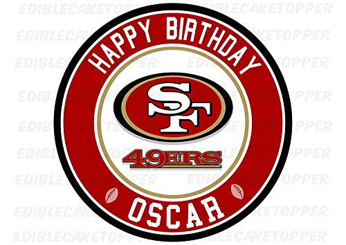EdibleInkArt San Francisco 49ers Edible Cake Topper Personalized Birthday 6