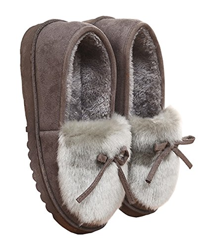 Fashion Gray Women's Outdoor HFT and Autumn Home Indoor Slippers Winter and Cotton dOW5PZwqPx