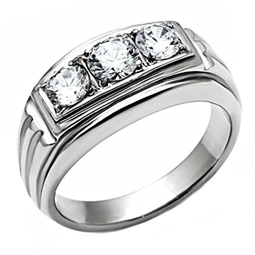 diamonique wedding bands amazoncom - Amazon Wedding Rings