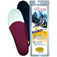 Noene Atlas Ski Insoles - Shock Dissipating, Carbon Fibre, Support, Comfortable, Arch Reinforcement, Keeps Feet Warm and Dry, Shock Dissipation, Minimum Thickness, Protection, Prevents Injury 39 (UK 6)