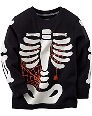 Carter's Baby Boys' Halloween Skeleton Tee (3m, Black)
