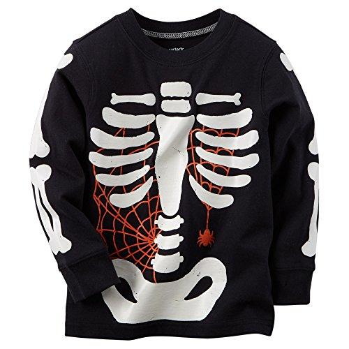 Carter's Baby Boys' Long-sleeve Halloween Tee (6 Months, Black Skeleton) (Boys Halloween Clothes)