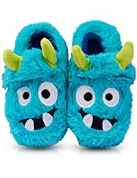 Boy's Cotton-Shaped Monster Upper House Cartoon Warm Soft Bedroom Slippers