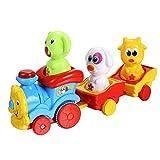 Arshiner Toddler Puppy's Music Light Cartoon Animal Train Toys