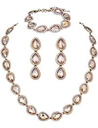 Wedding Bridal Austrian Crystal Teardrop Jewelery sets...