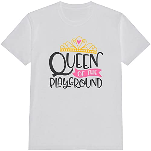 84bb0fce1 Amazon.com: Queen Of The Playground Kids T Shirts, Funny T-Shirt, With  Saying, Graphic: Handmade