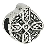 Authentic 925 Sterling Silver Celtic Cross Occasions Charm Bead Fits European Charms