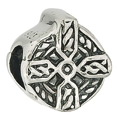 Authentic 925 Sterling Silver Celtic Cross Occasions Charm Bead Fits