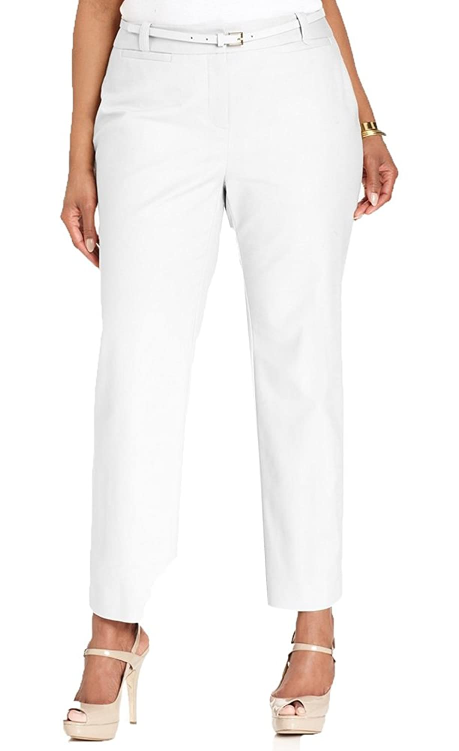 Charter Club White Belted Plus Size Pants