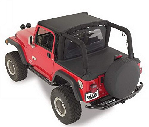RAMPAGE PRODUCTS 721015 Tonneau - Funda para Jeep Wrangler YJ, color negro