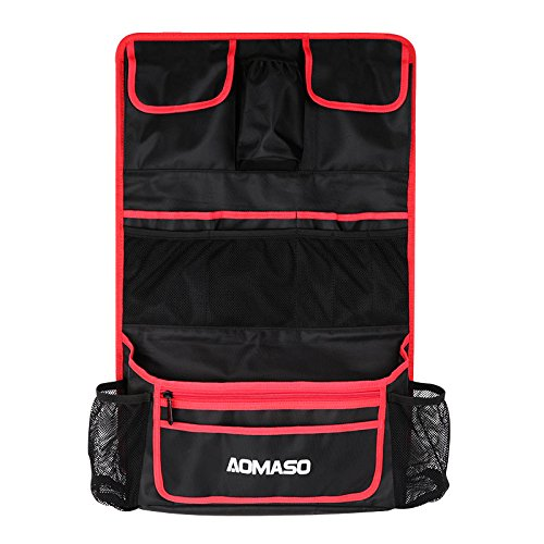 Aomaso Car Backseat Organizer and Protector, Multi-pocket Auto Accessory and Kick Mat