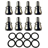 HHC Diesel ~ FORD 6.0L LeakProof Nipple Cups/Ball Tube Kit! Includes 8-LeakProof Nipple Cups and 8-Heavy Duty Viton Seals ~ F60L-8NIPPLE