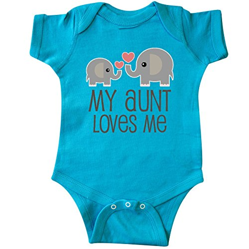 inktastic My Aunt Loves Me Gift Infant Creeper 6 Months Turquoise