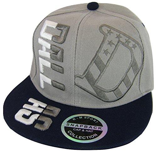 Fashion Headwear Dallas Raised Text Adjustable Snapback Baseball Cap (Gray/Navy)