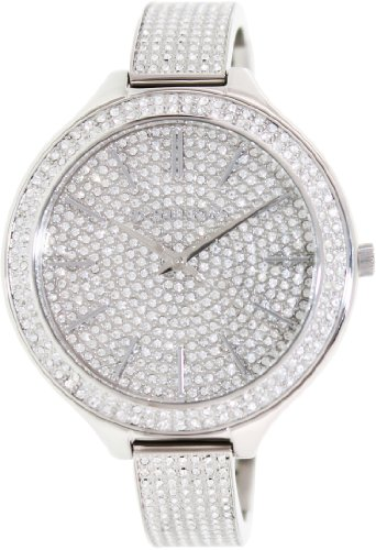 Michael Kors Runway Crystal Pave Dial Stainless Steel Ladies Watch