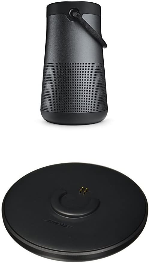 Bose SoundLink Revolve+ Portable & Long-Lasting Bluetooth 360 Speaker, Triple Black + Charging Cradle