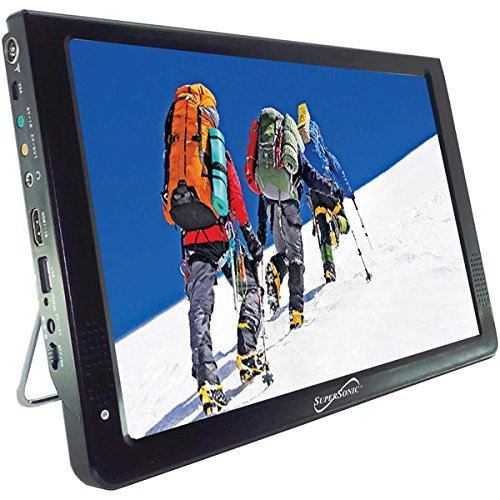 "Supersonic SC-2812 12"" Portable Ultra Lightweight Widescreen LED TV, HDMI, SD, MMC, USB, VGA Remote Control"