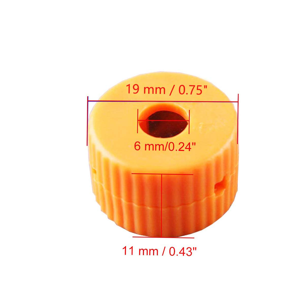 COMOK 6pcs 6mm Hole Dia Magnetizer and Demagnetizer for Screwdriver Bits and Tips Powerful Rare-Earth Magnet Orange
