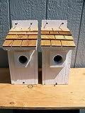 White Bluebird Houses 2 Cedarnest Cedar Shake Roof Review
