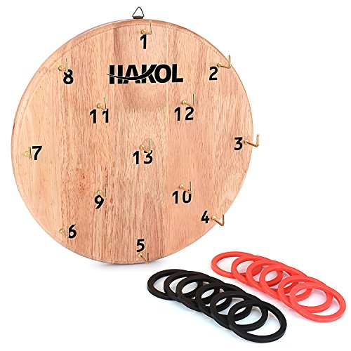 HAKOL Ultimate Hook & Ring Toss Game for Kids & Adults Fun & Educational Alternative to Throwing Darts   Sturdy Board, Safe & Durable Design   Great for Home Or Office Idea (Ideas For Small Design Patios)