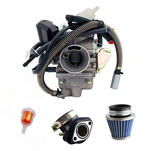 NEW GY6 (150cc) Carburetor for 150cc 125cc,152QMJ 157QMI with Air Filter Intake Manifold 4 Stroke Electric Choke Motorcycle Scooter Carburetor by mycheng