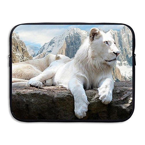 Sleeve Snow - Business Briefcase Sleeve White Snow Mountains Lions Laptop Sleeve Case Cover Handbag For 13 Inch Macbook Pro/Macbook Air/Asus/Dell/Lenovo/Hp/Samsung/Sony/Women & Men