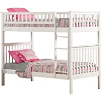 Woodland Bunk Bed, White, Twin Over Twin