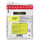 MMF Industries Tamper-Evident Deposit Bags, 12 x 16 Inches, 100 Bags per Pack, White (2362011N06)