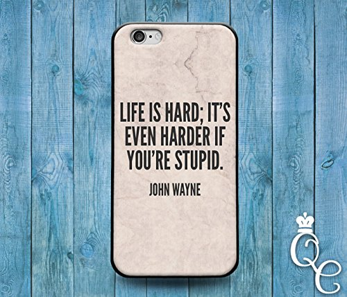 Price comparison product image *BoutiqueHouse* iPhone 4 4s 5 5s 5c SE 6 6s plus iPod Touch 4th 5th 6th Gen Funny Famous Hollywood Cowboy Country Phone Cover Cute Quote Gift Case Stupid(iPhone 6 Plus/6S Plus)