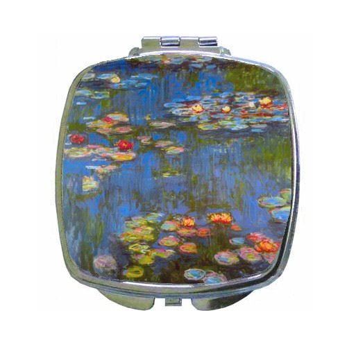(Waterlillies By Claude Monet Compact Mirror )