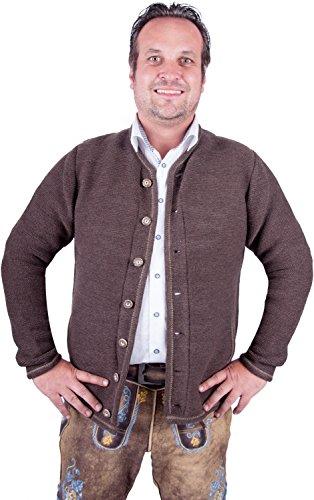 Almwerk Herren Trachten Strick Jacke Modell Xaver, Farbe:Braun;Größe:52