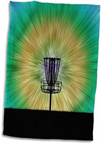 3D バラ カラフル ディスク ゴルフ タイダイ バスケット デザイン twl_17====_1 タオル 15インチ x 22インチ