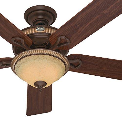 ling Fan with Reversible Dark Walnut/Cherried Walnut Blades (Certified Refurbished) (Bowl Light Kit Cocoa)