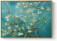 Cuadro decorativo hecho en lienzo canvas artístico, Arte de Vicent Van Gogh Almendro en Flor, Almod Blossom mo