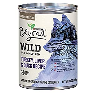 Purina Beyond WILD Prey-Inspired Turkey, Liver & Duck Recipe Adult Wet Dog Food - Twelve (12) 13 oz. Cans