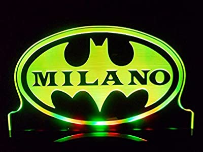 Personalized Custom Name Batman Super Hero LED Table Lamp Night Light Kids Room Game Room