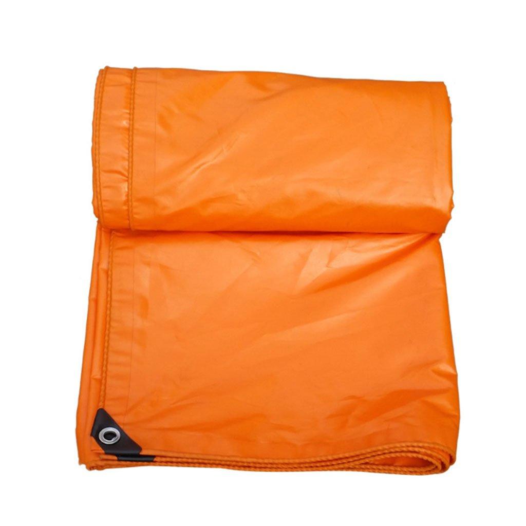 ターポリン レインクロスウォータープルーフサンスクリーン厚いターポリン屋外シェードキャノピー車のトラックキャンバスターポリンの布5サイズ可能 (色 : Orange, サイズ さいず : 5m*6m) B07FQ35HW3 5m*6m|Orange Orange 5m*6m