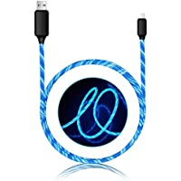 USB Type C Cable, EL Light LED Flashlight USB C to USB 2.0 cable (3ft), High Durability, Durable Charging Cable for Samsung Galaxy S8, S8+, the new MacBook, Google Pixel, Nexus 6P and More (blue)