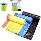20L Drawstring Trash Bag Odor Shiled Tall Kitchen Bin Liner Heavy Duty Trash Garbage Wastebasket Bags with Handle-tie Refuse Bag for Kitchen Home Office Random Color(Random Color)